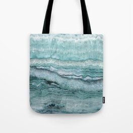 Mystic Stone Aqua Teal Tote Bag