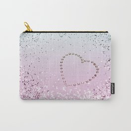 Mermaid Lady Glitter Heart #4 #decor #art #society6 Carry-All Pouch