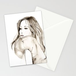 A portrait 1 Stationery Cards