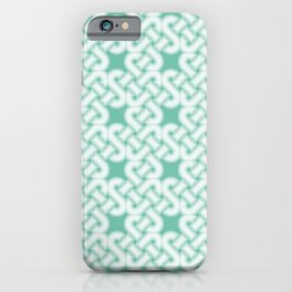 Green Celtic Knot Pattern iPhone Case