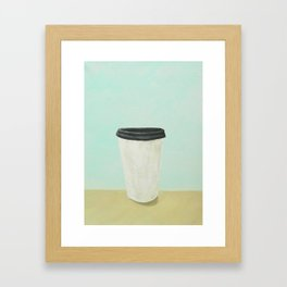 Coffee (Green) Framed Art Print
