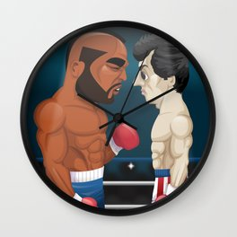 Rocky Balboa vs. Clubber Lang Wall Clock