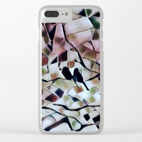 Absract Birds in a Tree Clear iPhone Case