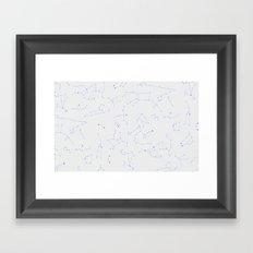 sky map  Framed Art Print