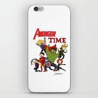 avenger iPhone & iPod Skins featuring Avenger Time! by ArtisticCole
