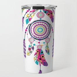 Colorful dream catcher on arrow Travel Mug