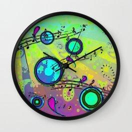 Pop Muzik Wall Clock