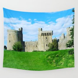 Castle on a hill Wall Tapestry