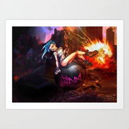 Wreckin Ball Jinx Art Print