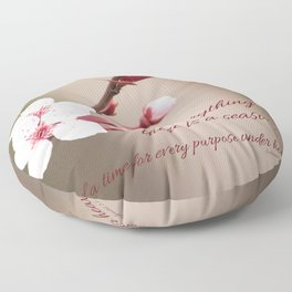 Plum's Promise Floor Pillow