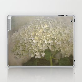 White Hydrangea Laptop & iPad Skin