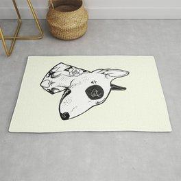 Bull Terrier dog Tattooed Rug