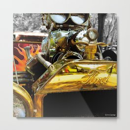 FLAMES AND CARBS Metal Print