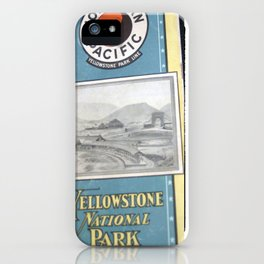 Yellowstone Northern Pacific Rail Time Table iPhone Case