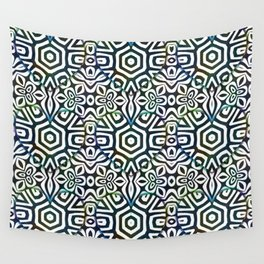 Love in the Black and White Structures Wall Tapestry