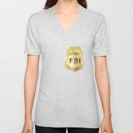 FBI Badge Unisex V-Neck