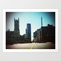 detroit Art Prints featuring Detroit by Jami Davidson
