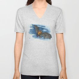 Little Worlds: Travel Bat Unisex V-Neck