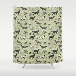 Bird-dog pattern Shower Curtain