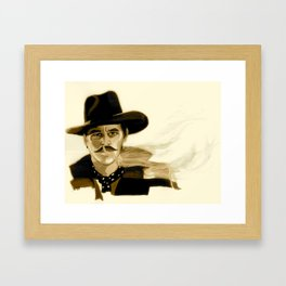 "Tombstone (Film, 1993) Doc Holliday ""I'm Your Huckleberry"" * SEPIA * Framed Art Print"