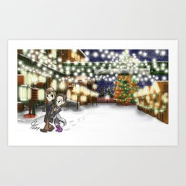 Winter Stroll Art Print
