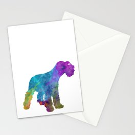 Miniature Schnauzer in watercolor Stationery Cards