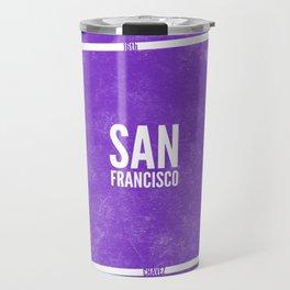 This is SF (Purple) Travel Mug