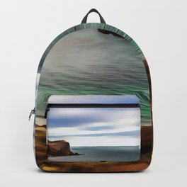 Man O War Cove (Painting) Backpack