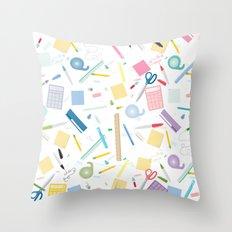 Work spaces Throw Pillow