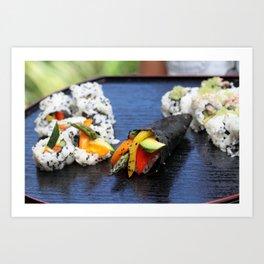 Sushi California Roll Art Print