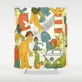 Surf Thru Vintage Shower Curtain
