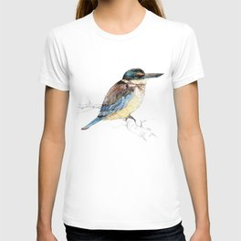 Mr Kōtare, New Zealand native kingfisher bird T-shirt