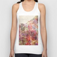 cleveland Tank Tops featuring Cleveland by MapMapMaps.Watercolors