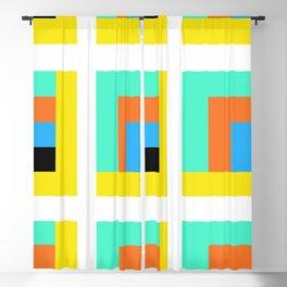 Color Bars & Squares Blackout Curtain
