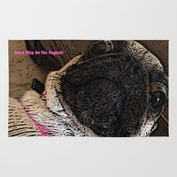 muppet Area & Throw Rugs featuring Pug Muppet by Red NCK Debutante