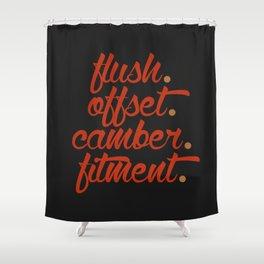 flush offset camber fitment v1 HQvector Shower Curtain