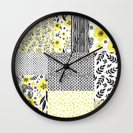 Beautiful Patch 3 Wall Clock