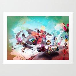 Wolf Racer Art Print