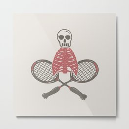 (BAD)MINTON Metal Print