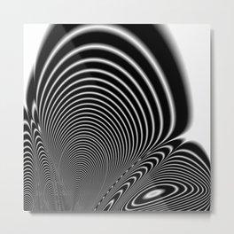 Fractal Op Art 6 Metal Print