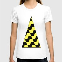 yellow pattern T-shirts featuring Yellow and black pattern by LoRo  Art & Pictures