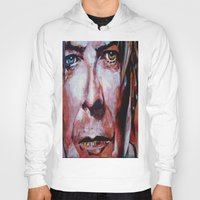 david bowie Hoodies featuring Bowie by Ray Stephenson