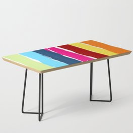Multicolor stripes background Coffee Table