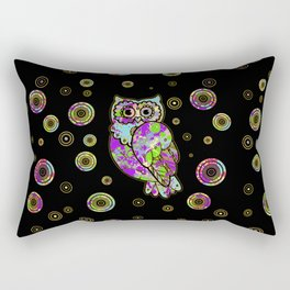 Colorful fun owl Rectangular Pillow