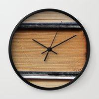 books Wall Clocks featuring Books by eARTh