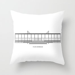 Mies - A is for Architecture Throw Pillow