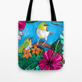 Tropical Tweets Tote Bag