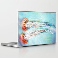 jelly fish Laptop & iPad Skins featuring Jelly Fish  by Felicia Cirstea