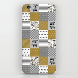 Badger House cheater quilt patchwork wizarding witches and wizards iPhone Skin