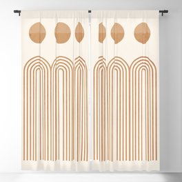 Minimal Geometric 107 Blackout Curtain